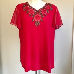 Adele & May Women's Red Blouse Size XL